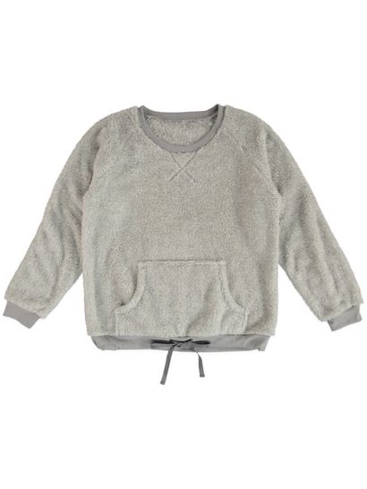 Tie Front Fluffy Sleep Top Womens