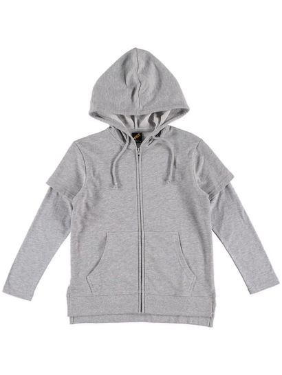 Boys Plain Zip Hoody