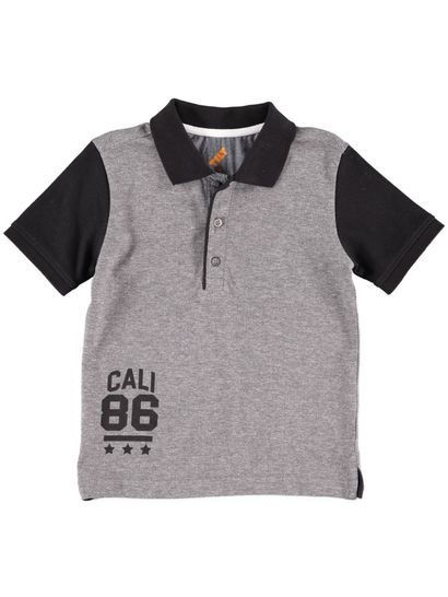 Boys Contrast Sleeve Polo