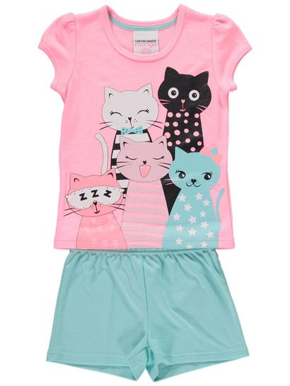 Girls Short Sleeve Pyjamas