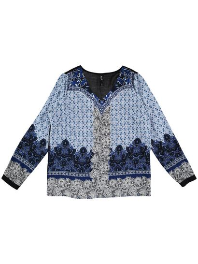 Allover Print Gypsy Top Womens