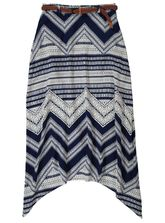 WOMENS CHEVRON MAXI SKIRT