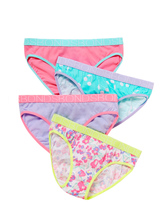 Bonds Girls 4-Pack Bikini Briefs