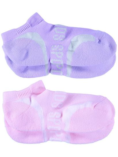 Girls 2Pk Bonds Ultimate Comfort Low Cut