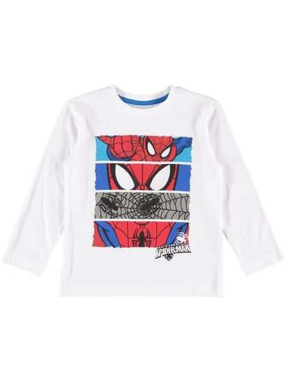 Boys Ls Spiderman Tee