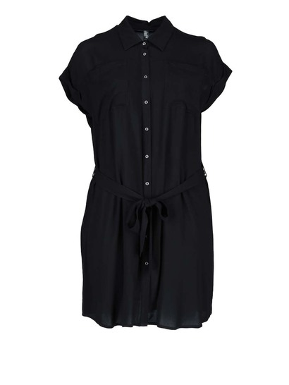 Womens Button Through Shirt Dress