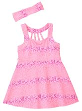 TODDLER GIRLS OMBRE HEART PRINT DRESS