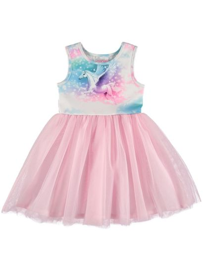 Girls Printed Tulle Dress