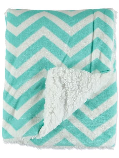 BABY CHEVRON FLEECE BLANKET 76X101CM