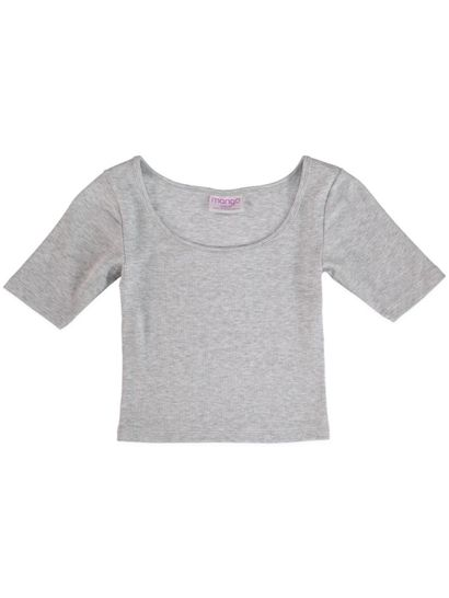 Girls Short Sleeve Rib Top