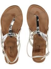 Womens Metallic Sandal