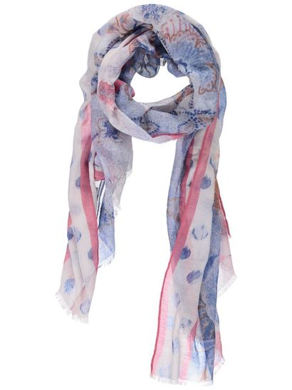 Womens Mixed Print Scarf