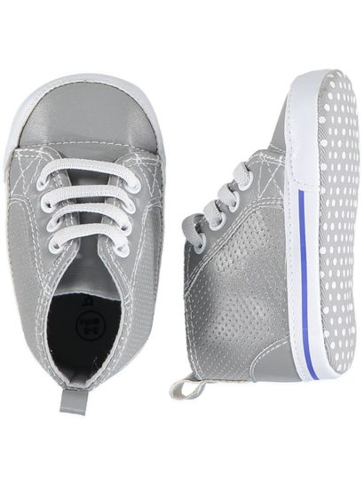 Baby Boy Grey Hi-Top Trainer