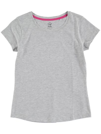 GIRLS ORGANIC COTTON BLEND SHORT SLEEVE TEE