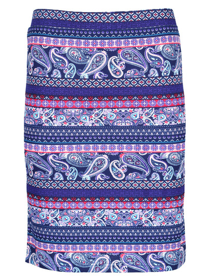 Womens Tube Print Skirt