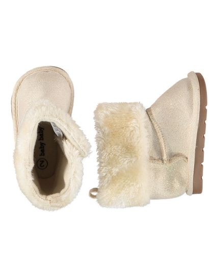 Baby Girl Gold Slipper Boot