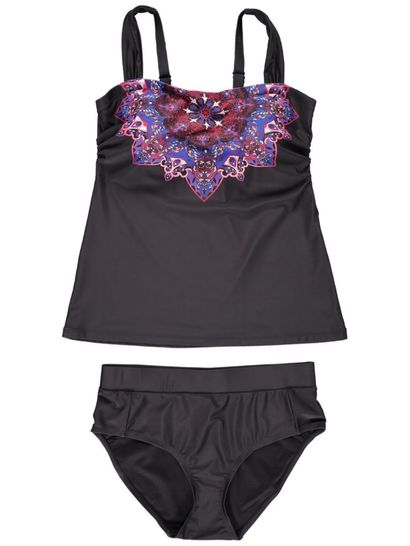 Womens 2 Piece Printed Tankini