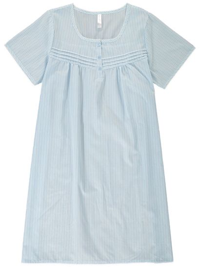 SHORT SLEEVED TRADITIONAL NIGHTIE WOVEN SLEEPWEAR