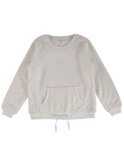 Fluffy Tie Front Top Womens Sleep