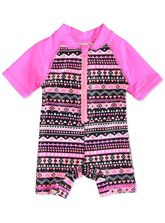 BABY ZIP FRONT SWIMSUIT