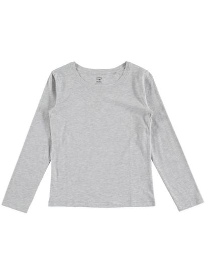 GIRLS ORGANIC COTTON BLEND LONG SLEEVE TEE