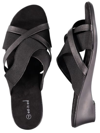 Ladies Multi Strap Wedge