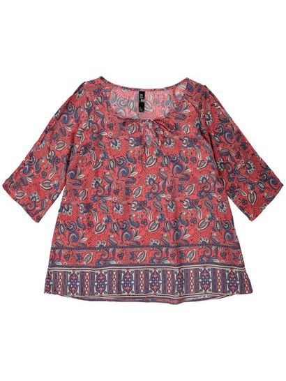 Plus Cold Shoulder Floral Gypsy Womens