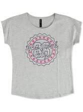 PLUS FRONT PRINT TEE WOMENS