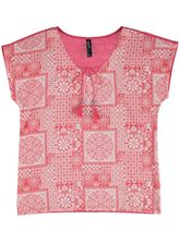 Woven Front Print Tee Womens