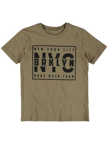 Boys Print Front Ss Tee