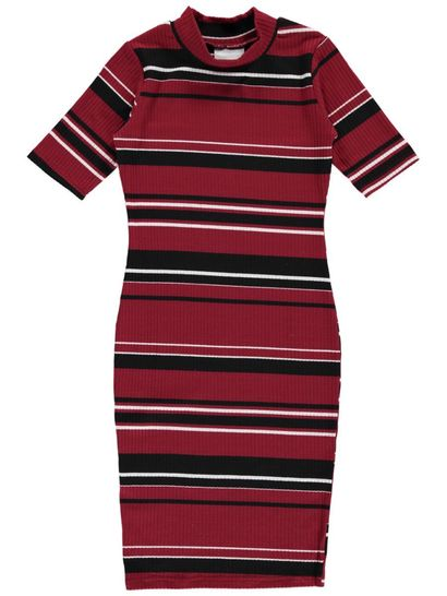 Girls Rib Stripe Dress