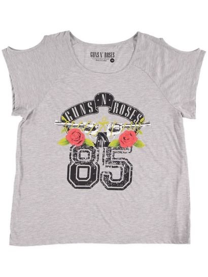 Lge Ladies Guns And Roses Tee
