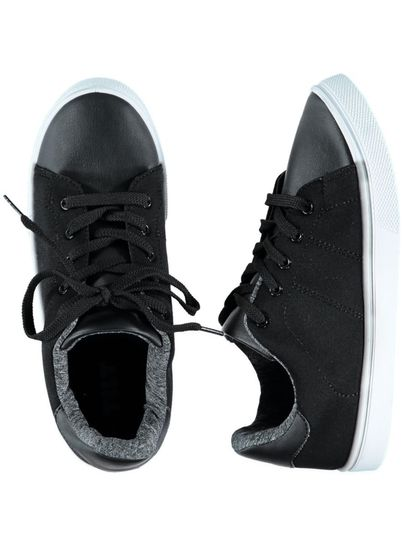 Boy Black Lace Up Shoe