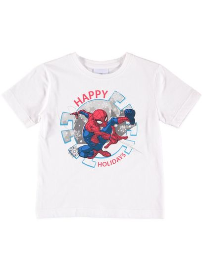 Boys Xmas Spiderman T-Shirt