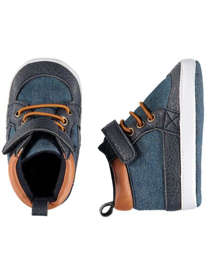 Baby Boy Soft Sole Denim High Top