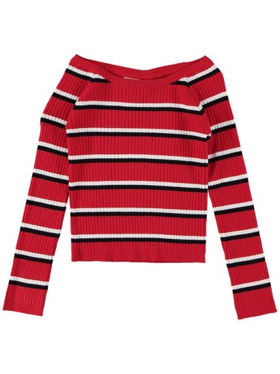 Girls Stripe Knit Pullover