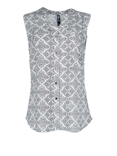 Sleevless Shirt Tile Pr Womens