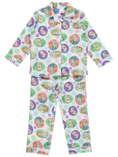 Girls Frozen Flannelette Pyjamas