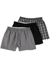 MENS 3 PACK WOVEN BOXER