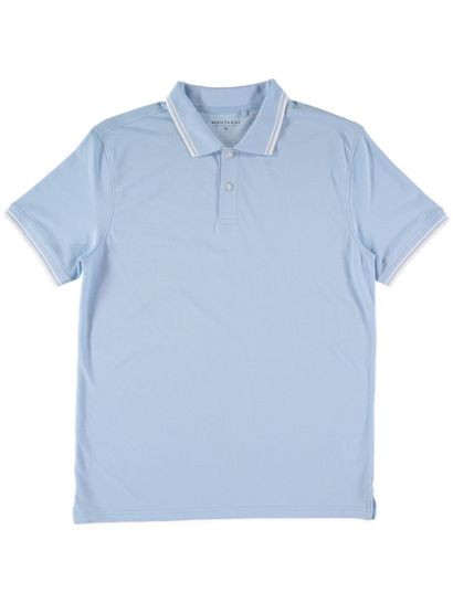 Mens Short Sleeve Marle Polo With Tipping
