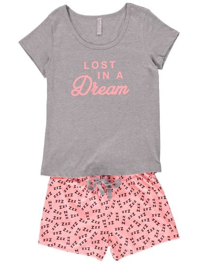 Short Sleeve Pyjama Set Womens Sleepwear