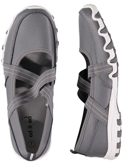 Womens Cross Over Leather Comfort Shoe