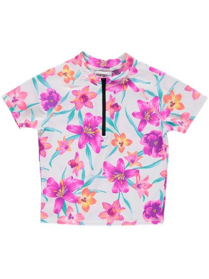 Girls Tropical Zip Rashi
