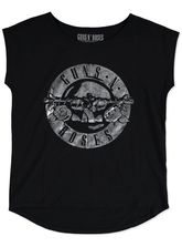 LADIES GUNS AND ROSES TEE SHIRT