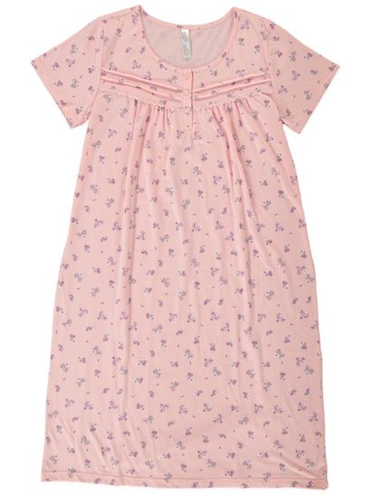 SHORT SLEEVED TRADITIONAL NIGHTIE SLEEPWEAR