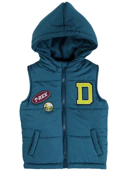 Boys Badge Puffa Vest