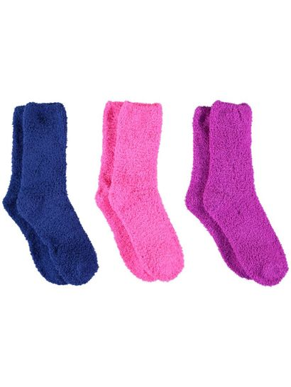 Bed Sock 3Pk Marshmallow Womens