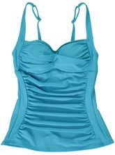 WOMENS RUCHED TANKINI TOP