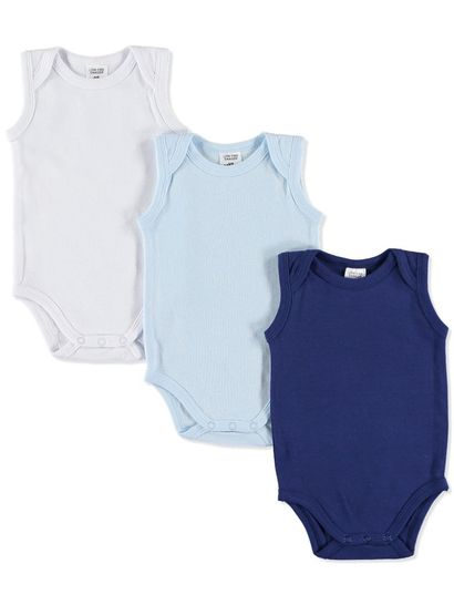 BABY 3PK COTTON BODYSUITS