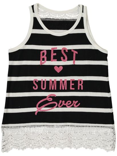 Girls Knit Stripe Tank
